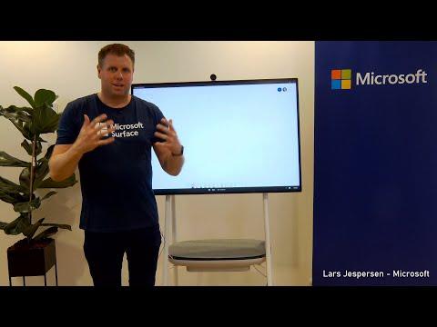 Surface Hub samarbejde i whiteboard