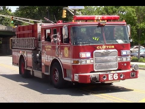 Clifton Fire Department Engine 6 Responding 6-24-16
