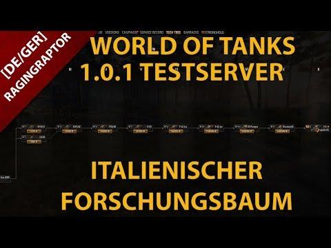 World of Tanks 1.0.1 Testserver: Der italienische Forschungsbaum!