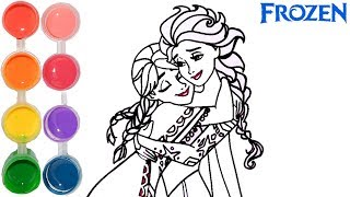 How to draw frozen ana & elsa | little mermaid coloring drawings | art for kids by super cool 4 kids