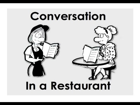 Conversation in a Restaurant. Ordering Food. Easy English Conversation Practice.