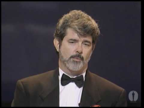 George Lucas receiving the Irving G. Thalberg Memorial Award