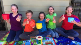 Learn English Colors! Match and Roll Rainbow Shapes with Sign Post Kids!