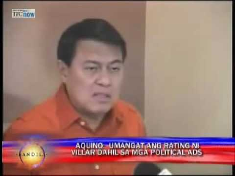 Reason for poll surge: Villar has Palace backing