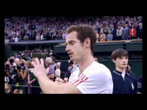 Andy Murray's Emotional Wimbledon Final Speech - 2012
