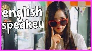 BLACKPINK JISOO ENGLISH SPEAKEU