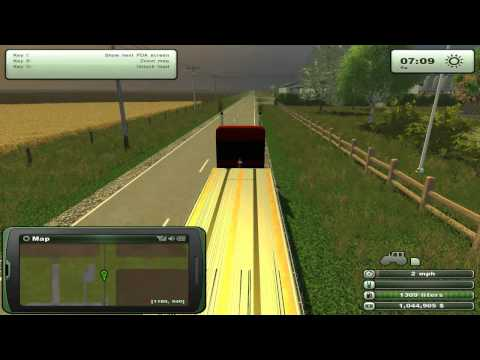 Farming Simulator 2013 Mods - Semi Trailers Flatbeds. Modern American Map.