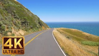 4K (Ultra HD) California Scenic Bike Ride with Music - Coleman Valley Road, California - 5 Hours