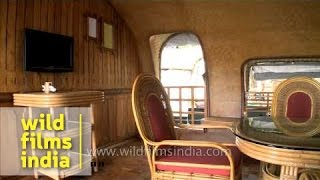 Interiors of houseboats in Kerala