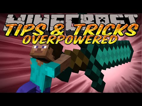 Minecraft Tips and Tricks - Overpowered Weapons - NBT Edit & TMI Custom Enchantments