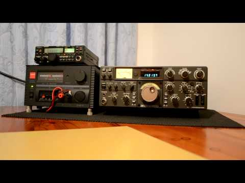 Kenwood Trio TS-530S  2W0DAA  Amateur radio Station