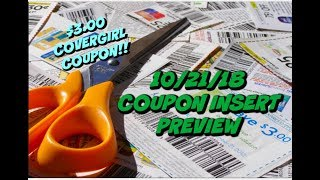 10/21/18 COUPON INSERT PREVIEW   $3 COVERGIRL COUPON & MORE!