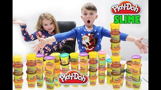 Don't Choose the Wrong Play-Doh Slime Challenge! Christmas Edition