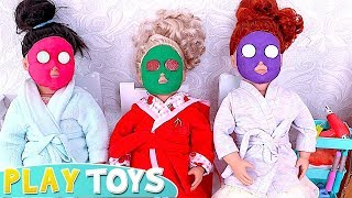 How to Make Color Face Spa Mask from Play Doh for American Girl Dolls DYI Tutorial! 🎀
