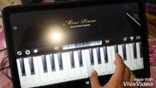 Onek Shadhonar pore ami piano cover