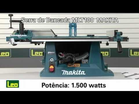 Serra de bancada MLT100. da Makita