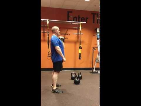 Kettlebell clean & press + pull up ladder. Image 1