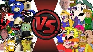 MLG vs YOUTUBE POOP! TOTAL WAR! (Sanic vs Weegee 2) Cartoon Fight Club Episode 23