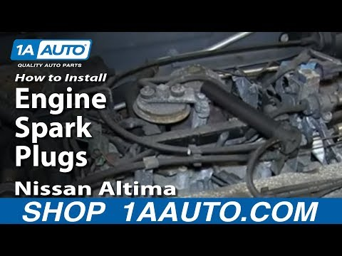 How To Install Remove Engine Spark Plugs Nissan Altima 2.4L