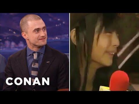 Daniel Radcliffe's Japanese Talk Show Prank  - CONAN on TBS