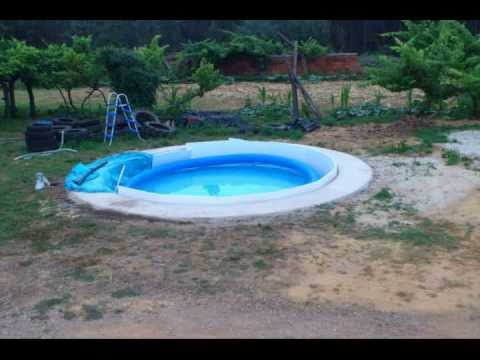 Como enterrei minha piscina intex 460 1 7 youtube for Piscina 4x4