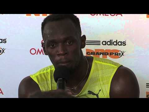 USAIN BOLT PRESS CONFERENCE @ ADIDAS GRAND PRIX - 2015