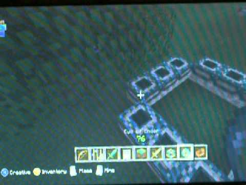 How to build an end portal in minecraft creative mode Xbox 360