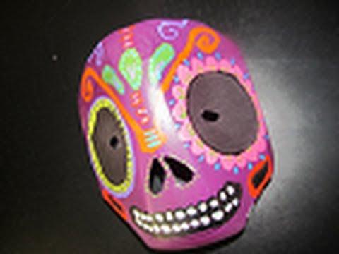 MÁSCARA Reciclada de calaverita mexicana para Día de Muertos//Halloween