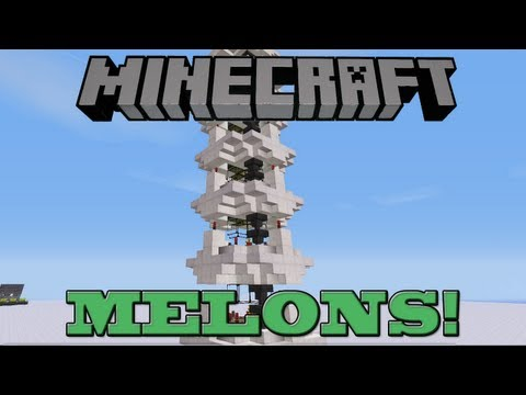 Fully Automatic Melon Tower!  Minecraft Farm