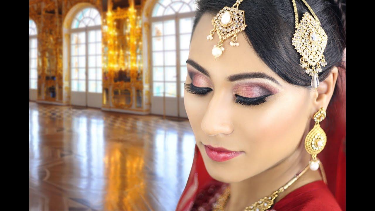 Red Indian Bridal Smokey Eye Makeup Tutorial Traditional