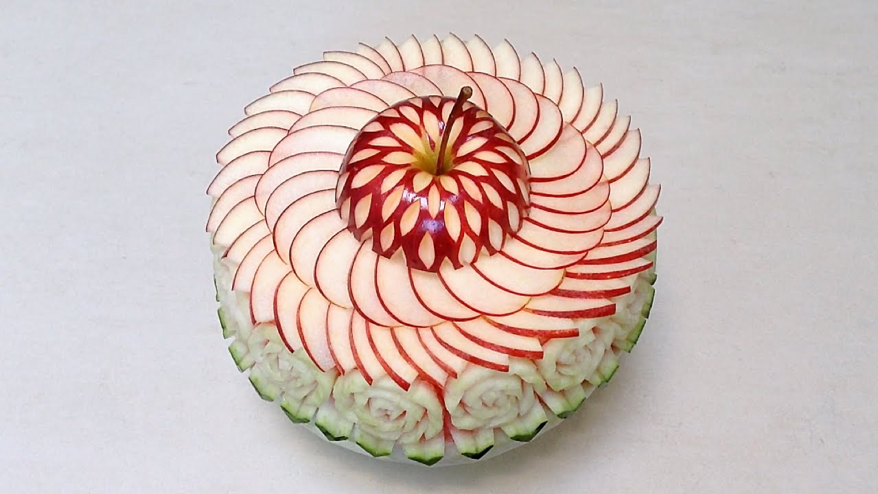 Art in cake decorating watermelon and apple advanced for Apples decoration