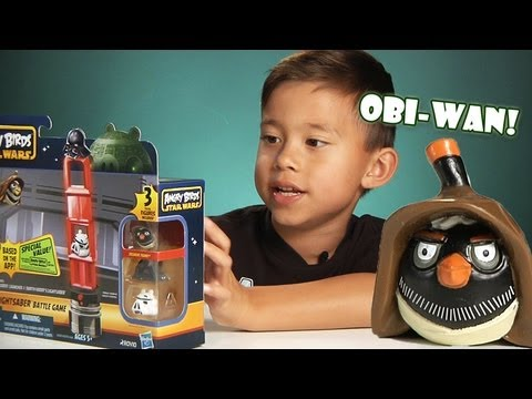 Angry Birds STAR WARS TOYS!!!! Darth Vader's Lightsaber Battle Game - Unboxing and Review