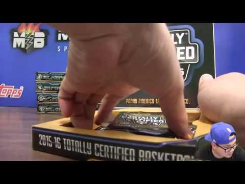 6/16 - 2015-16 Panini NBA Totally Certified 15 Box Case Break Random Team