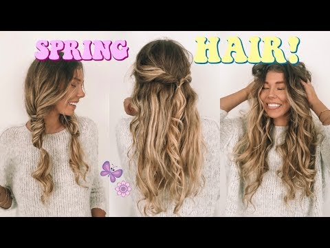 SUPER EASY + CUTE HAIRSTYLES FOR SPRING!