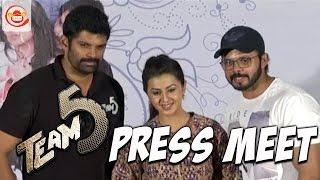 Team 5 Telugu movie Team Press Meet - Sreesanth , Nikki Galrani