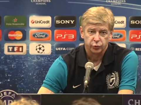 Arsene Wenger Answering Questions In French