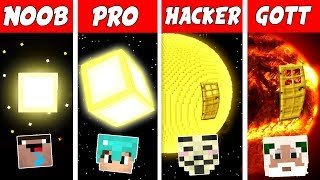 Minecraft NOOB vs. PRO vs. HACKER vs. GOTT: SONNEN BASIS in Minecraft
