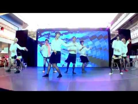 140426 D@SH Ft. Ton Millenium Boy cover AOA - Miniskirt @Hello! Korea