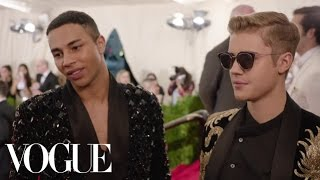 Download Lagu Justin Bieber and Olivier Rousteing at the Met Gala 2015 | China: Through the Looking Glass Gratis STAFABAND