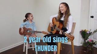 Download Lagu 2 YEAR OLD SINGS Imagine Dragons (Thunder) Gratis STAFABAND
