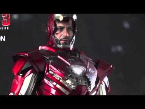 Iron Man 3 Hot Toys Mark XXXIII Silver Centurion Armor 1/6 Scale Movie Figure Pics & Details!