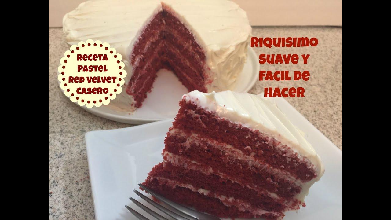 Torta Red Velvet Receta Receta Pastel Red Velvet