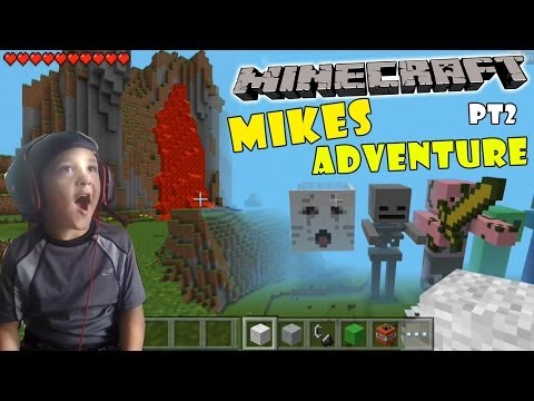Mikes Minecraft Adventure pt 2 The Lava Seed w Face Scare Cam 5 Year Old iOS Gameplay
