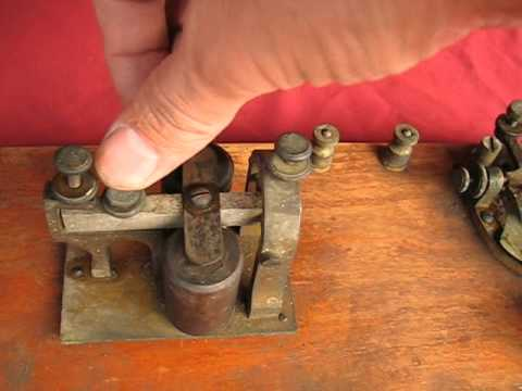 Ham radio key telegraph