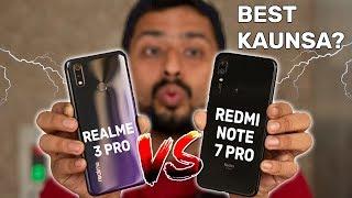 Realme 3 Pro Vs Redmi Note 7 Pro Comparison, Camera, Gaming, Battery | BEST KAUNSA | GT Hindi