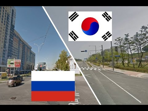 Южная Корея - Россия. Екатеринбург - Инчхон. Сравнение. Города-побратимы.