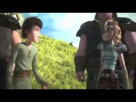 Hiccup and Astrid's first kiss!
