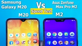 Samsung Galaxy M20 Vs Asus Zenfone Max pro M2 Speed Test || Bench Mark Scores /Rs.11990 Vs Rs.12999