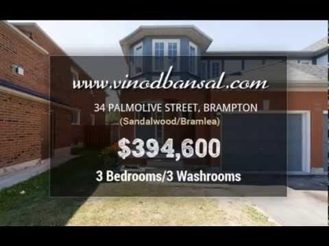 Semi Detached House For Sale In Brampton -$394,600 (By Vinod Bansal)