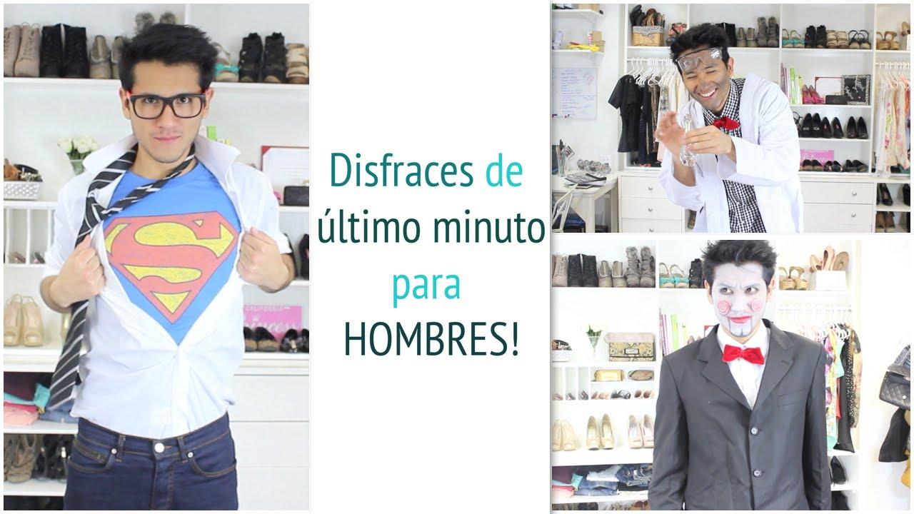Disfraces de ltimo minuto para hombres youtube for Disfraces caseros adultos